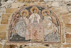 Мозаика над входом к монастырю Manasija, XV веку, Сербии стоковые фотографии rf