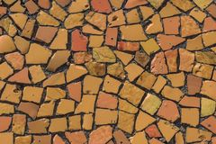 Мозаика на дне бассейна Стоковая Фотография RF