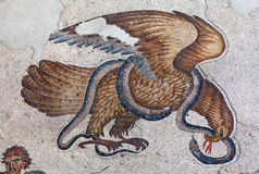 Мозаика от византийского периода в большой музе мозаики дворца Стоковое Изображение RF