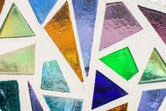 Мозаика покрашенного стекла стоковое фото rf