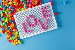 Мозаика ребенк с влюбленностью слова Стоковые Фотографии RF