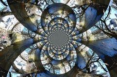 Мозаика реки стоковое изображение rf