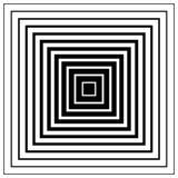 Мозаика, решетка квадратов с эффектом искажения Абстрактное graysca Стоковые Фотографии RF