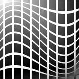 Мозаика, решетка квадратов с эффектом искажения Абстрактное graysca Стоковое Фото