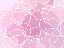 мозаика сердец абстрактной предпосылки геометрическая Стоковые Изображения