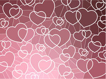 мозаика сердец абстрактной предпосылки геометрическая Стоковое Изображение