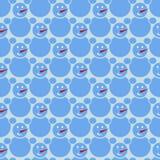 Мозаика снеговиков Стоковое фото RF