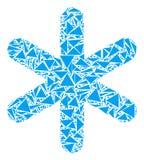 Мозаика снежинки треугольников иллюстрация штока