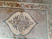 Мозаика старой мозаики красная и желтая римская Стоковое Изображение