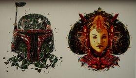 Мозаика стены Звездных войн стоковая фотография rf