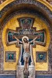 Мозаика с Иисусом Христосом на церков спасителя на крови в Санкт-Петербурге, России Стоковое фото RF