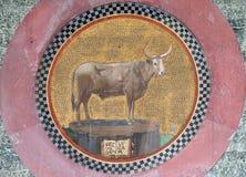 Мозаика с символом St Luke евангелист Стоковое Изображение