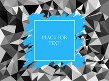 Мозаика текстуры конспекта геометрическая полигональная, серый цвет, треугольники Насиживать синь, текст, знамя также вектор иллю иллюстрация штока