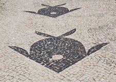 Мозаика тротуара Barra da Tijuca в Рио-де-Жанейро Стоковое Изображение RF