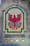 Мозаика флага автономной провинции Больцано Стоковые Фотографии RF