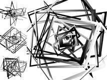 Мозаика хаотического солдата нерегулярной армии, случайных квадратов Repeatable backgrou Стоковое Изображение