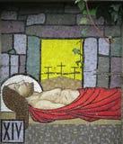Мозаика - четырнадцатая станция перекрестного Ballina Ирландии стоковые фотографии rf
