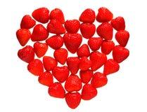 Мозаика ягод клубники в форме сердца Стоковые Изображения RF