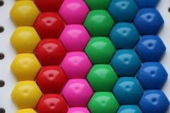 Мозаика ` s детей предпосылка пестротканой мозаики ` s детей покрашенные нашивки пластичных деталей мозаики ` s детей Стоковое Изображение RF
