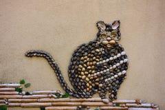 Мозаика Seashell денежного мешка Стоковые Изображения RF