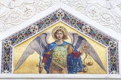 Мозаика St Michael стоковое фото rf