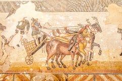 Мозаики в Вилле Romana del Casale стоковые фотографии rf