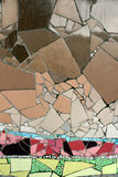 Мозаики детали керамические стеклянные Стоковая Фотография