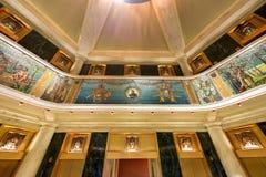 Мозаики здания Marquette - Чикаго Стоковые Фотографии RF
