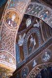Мозаики от Cappella Palatina. Часовня Palatine в Норме стоковое фото