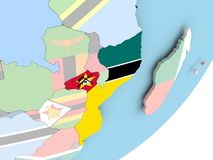 Мозамбик с флагом иллюстрация штока