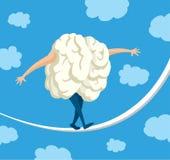 Мозг в балансе идя на строку Стоковые Изображения RF