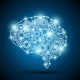 Мозг искусственного интеллекта иллюстрация вектора