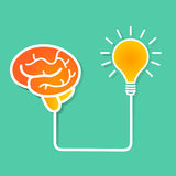 Мозг и идея Стоковое фото RF