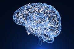 Мозг и центры деятельности иллюстрация вектора