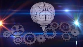 Мозг и шестерни иллюстрация штока