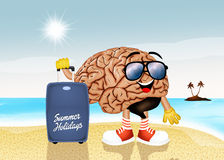 Мозг на праздниках Стоковая Фотография