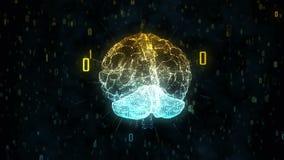 Мозг цифров иллюстрация вектора