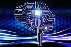 Мозг цифров бесплатная иллюстрация