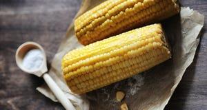 мозоль свежая Естественная еда от удара мозоли с солью Сельский мексиканец Стоковые Изображения RF