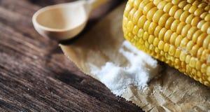 мозоль свежая Естественная еда от удара мозоли с солью Сельский мексиканец Стоковые Изображения