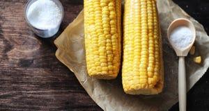 мозоль свежая Естественная еда от удара мозоли с солью Сельский мексиканец Стоковое Фото
