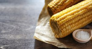 мозоль свежая Естественная еда от удара мозоли с солью Сельский мексиканец Стоковая Фотография