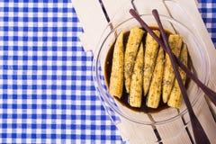 Мозоль младенца с маринадом сои соевого соуса, розмаринового масла, оливкового масла Стоковое Изображение RF