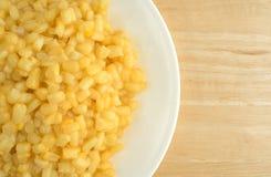Мозоль Shoepeg белая с соусом масла на блюде Стоковое Изображение