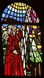 Моисей водя церковь Моисея Mt Nebo Джордан цветного стекла мемориальную Стоковое Изображение RF