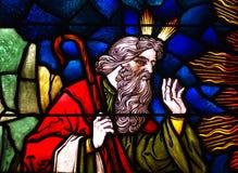Моисей в цветном стекле Стоковое Изображение