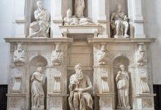 Моисей Микеланджело, Римом, Италией Стоковая Фотография RF