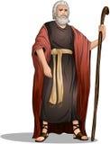 Моисей от библии для еврейской пасхи стоковое фото rf