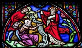 Моисей поражает воду от утеса Стоковая Фотография