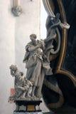 Моисей поднимает вверх латунный змея Стоковое Фото